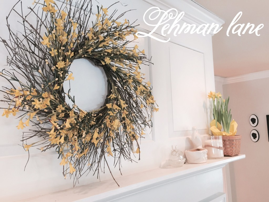 Spring Mantel - The Living Room