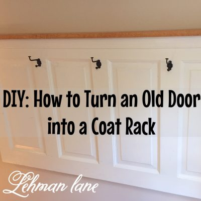 DIY: Old Door itno Coat Rack