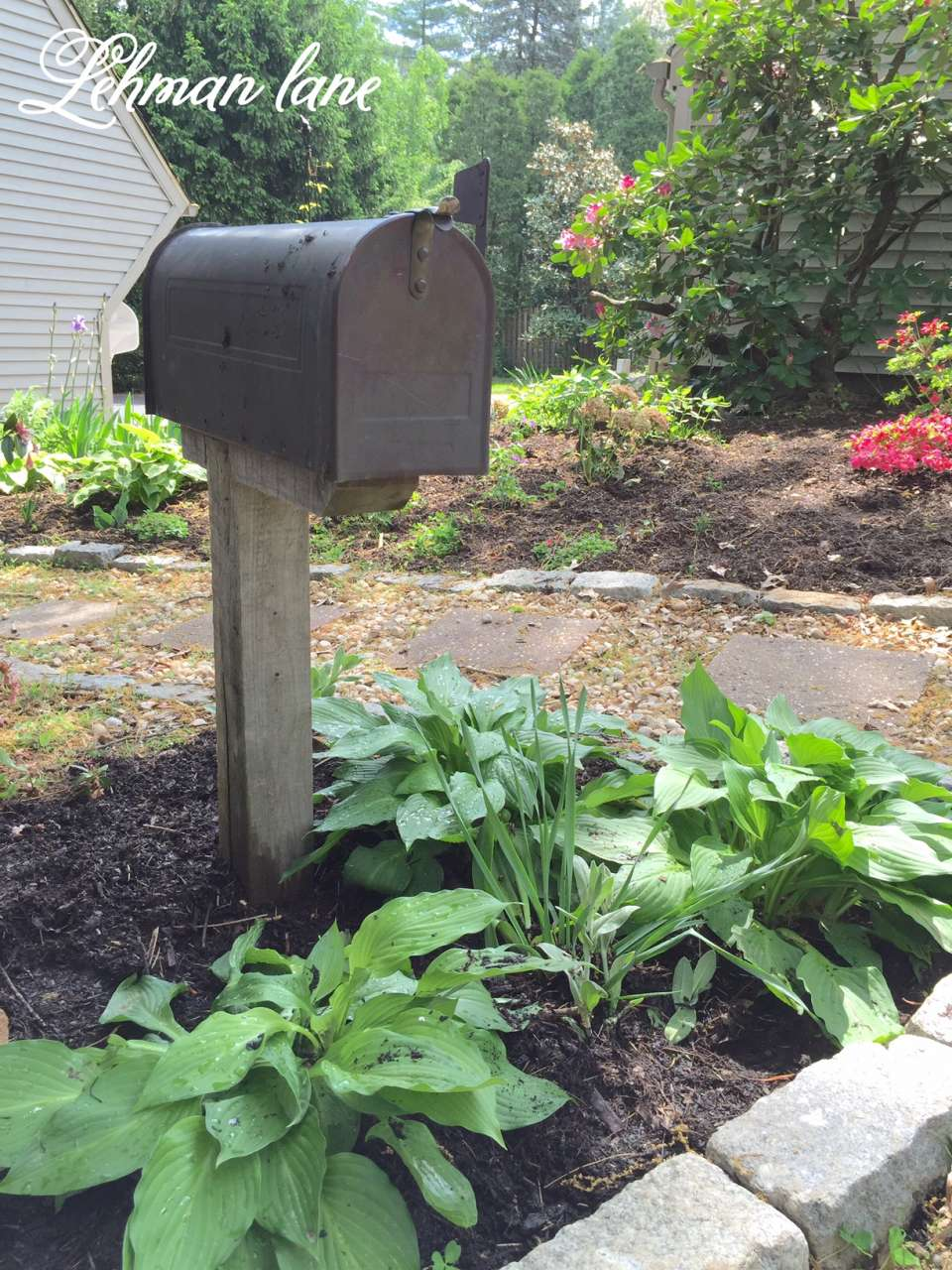 My Shady Mailbox Garden - For Storing My Garden Tools