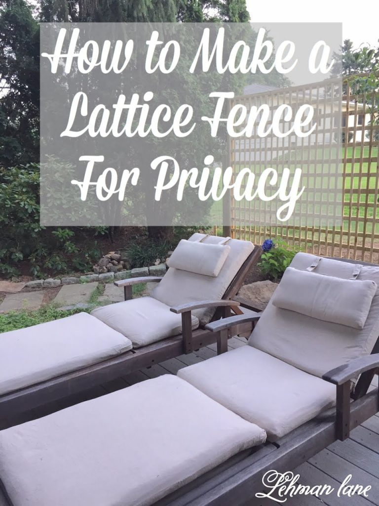DIY - Square Lattice Fence for Privacy - Today, I am sharing how we created a DIY Square lattice fence for privacy off of our kitchen deck. Our square lattice fence was simple to make and will look beautiful as we add vines, to grow on it. #privacyfence #fence #diy https://lehmanlane.net