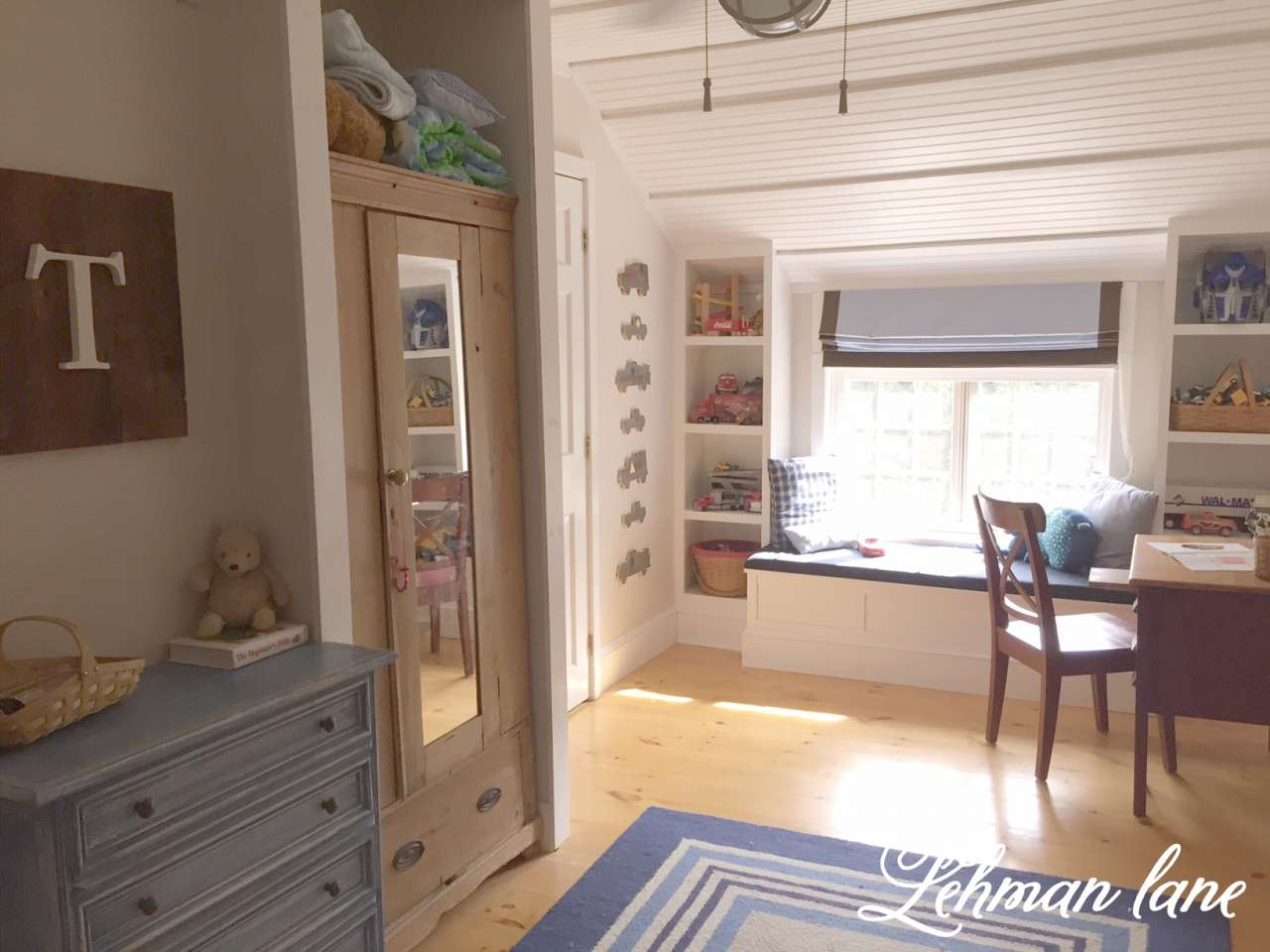 Come see how we transformed our former master closet into a spacious bedroom for our son with lots of built ins!