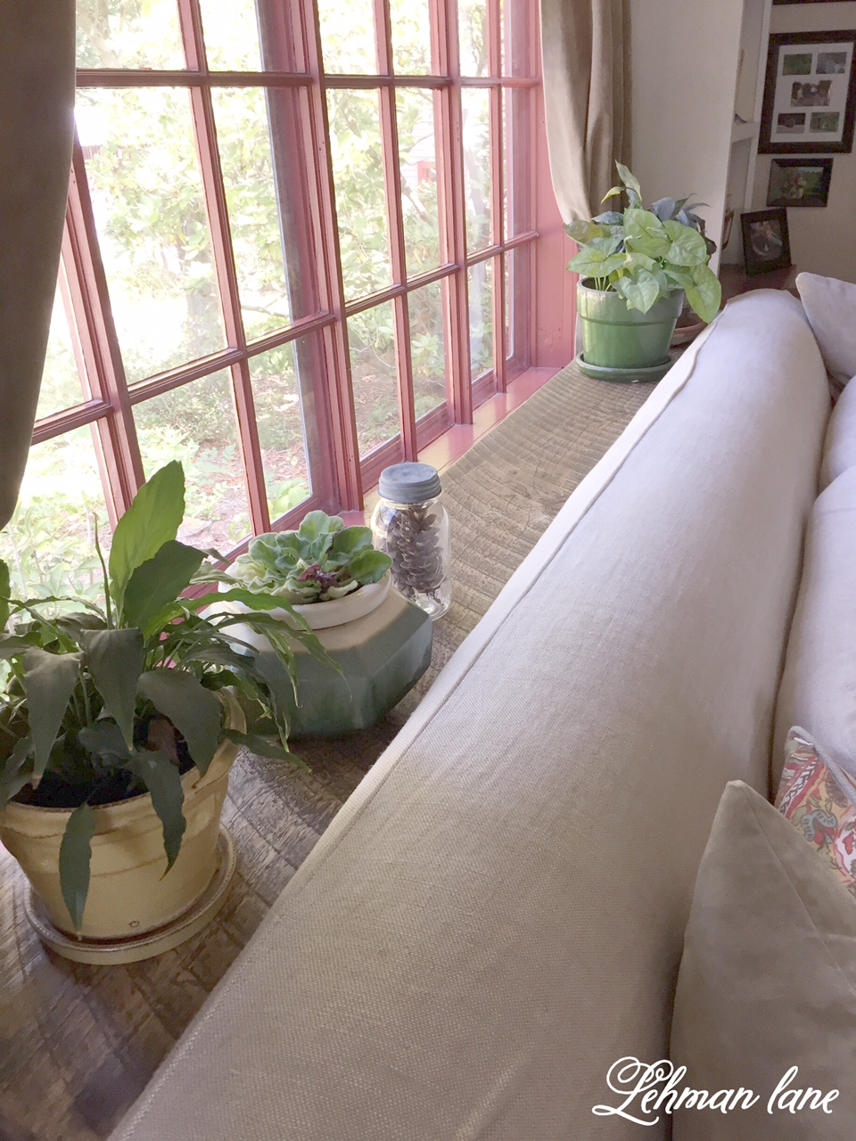 DIY Beam Sofa Table