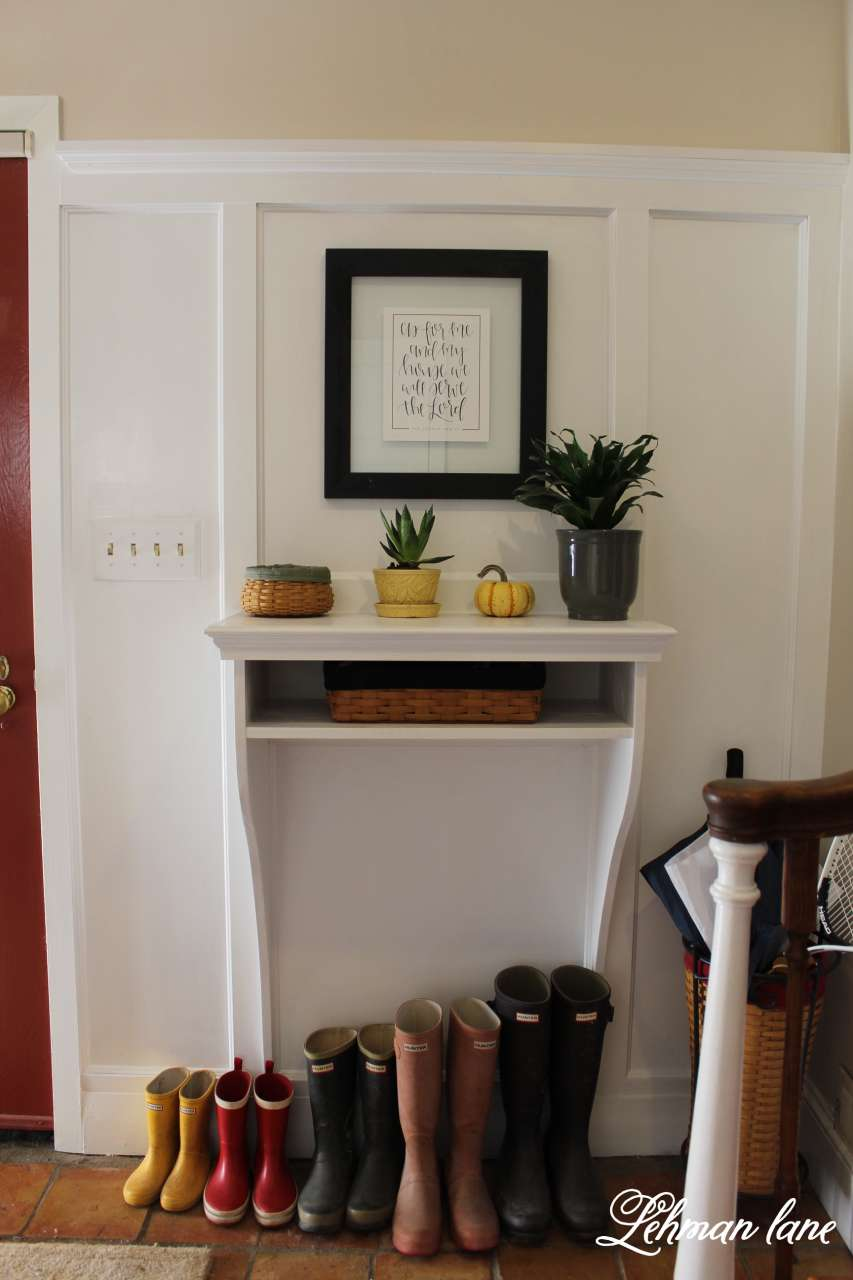 DIY Foyer/ Entrway Table / 7 ways to beautiful decorate for fall n a budget