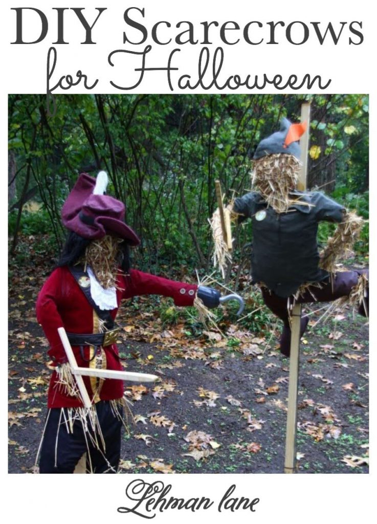 Sharing all my Tips & Tricks for How to Make the Best DIY Scarecrows for Halloween to decorate your yard with on a budget. #scarecrow #halloween #halloweencraft #fallcraft https://lehmanlane.net