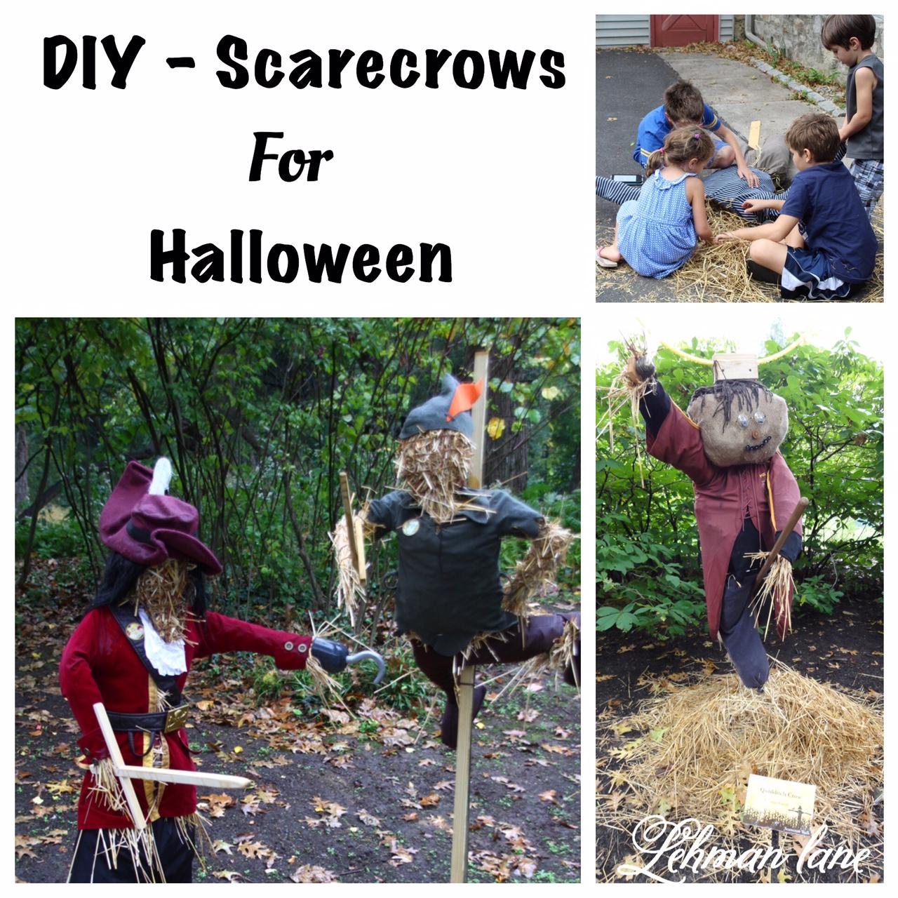 DIY - Scarecrows for Halloween