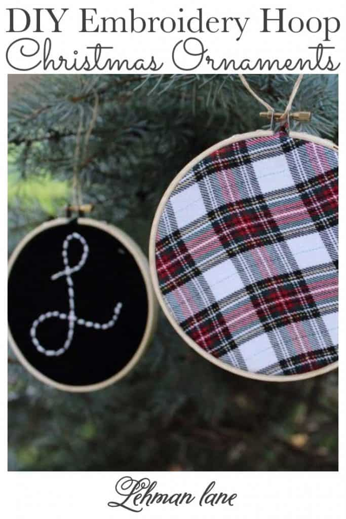 Sharing all the details of How to Make Beautiful, Personal & EASY DIY Embroidery Hoop Christmas Ornaments to decorate your Christmas tree & home with this Christmas. #christmas #christmascrafts #sewingprojects