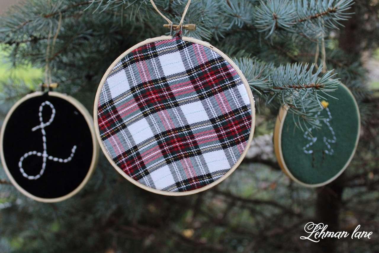DIY - Embroidery Hoop Ornaments & Ornament Hop