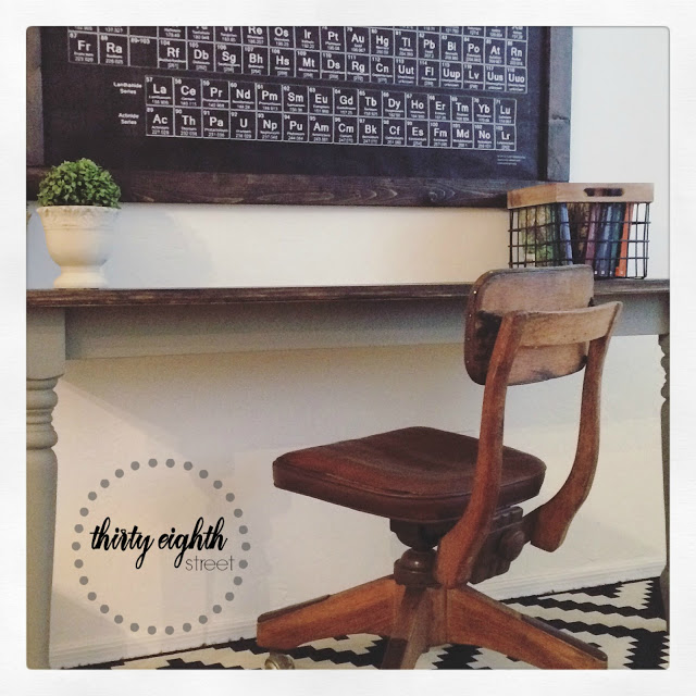 DIY Rustic Desk from a table 0759