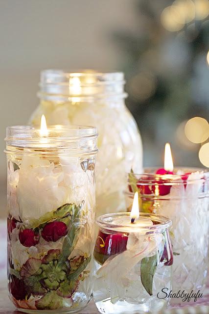 shabbyfufu oil lantern candles