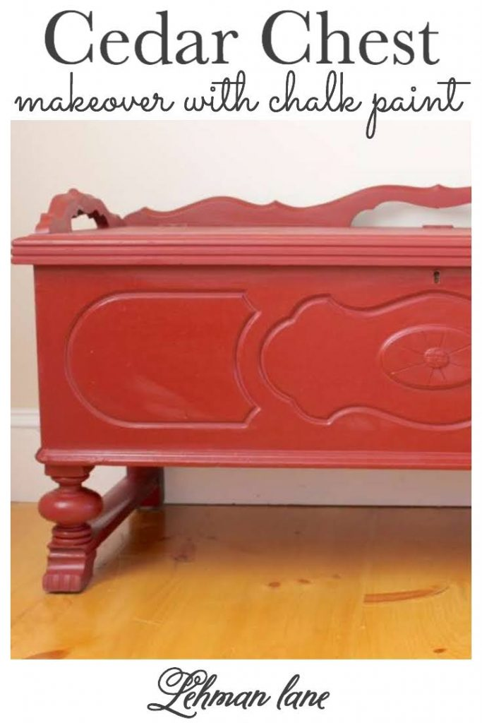 Sharing all the tips & tricks for an awesome & easy DIY cedar chest makeover with chalk paint including before & after pictures. #paintedfurniture #chalkpaintfurniture https://lehmanlane.net