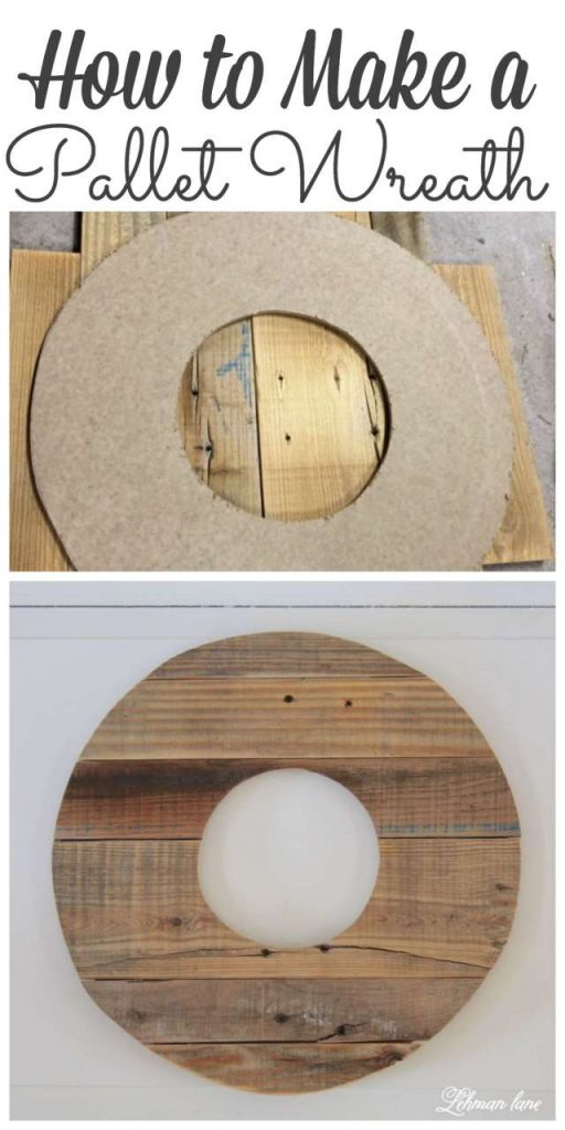 Sharing how to Make a Wreath out of Pallet Wood #pallets #palletproject http://lehmanlane.net
