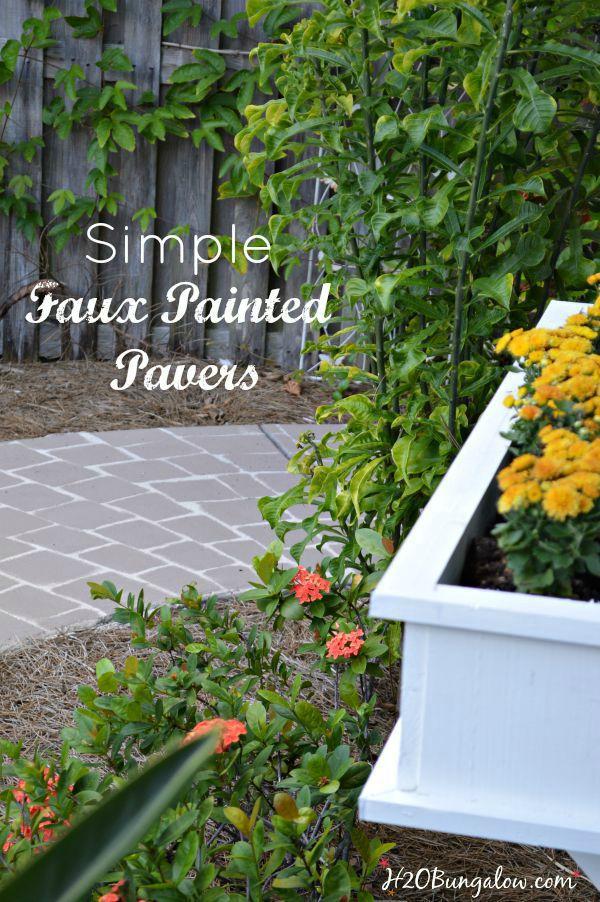 Simple-faux-painted-pavers-H2OBungalow