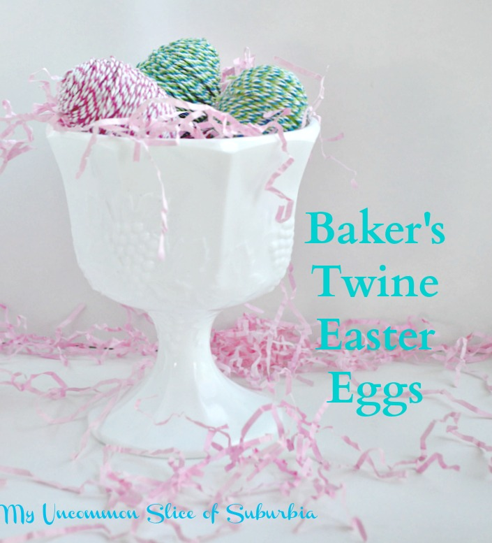 twine easter eggs
