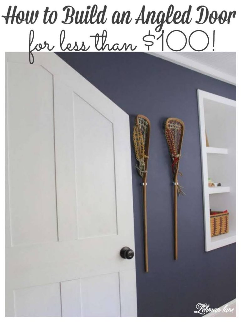How to Build an Angled Door - #doormakeover https://lehmanlane.net
