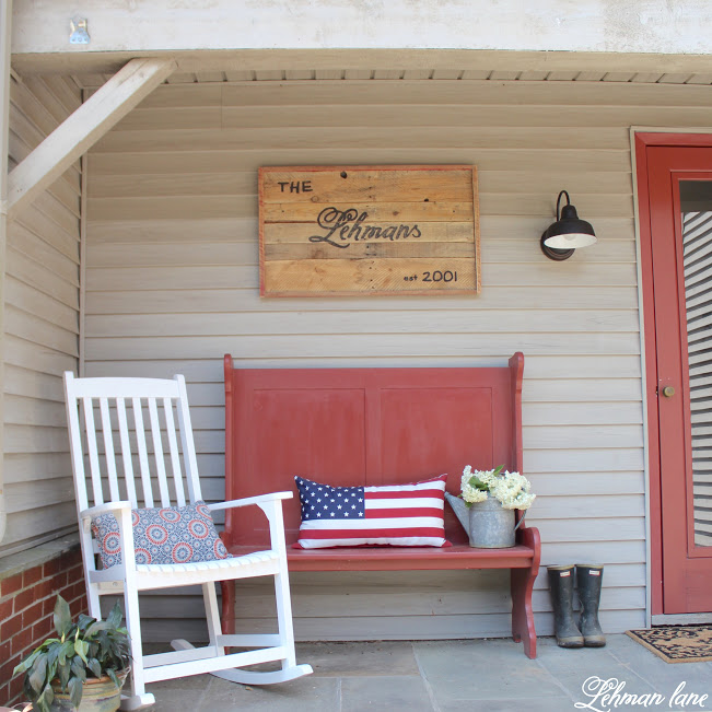 Farmhouse front porch - curb appeal reveal - Summer
