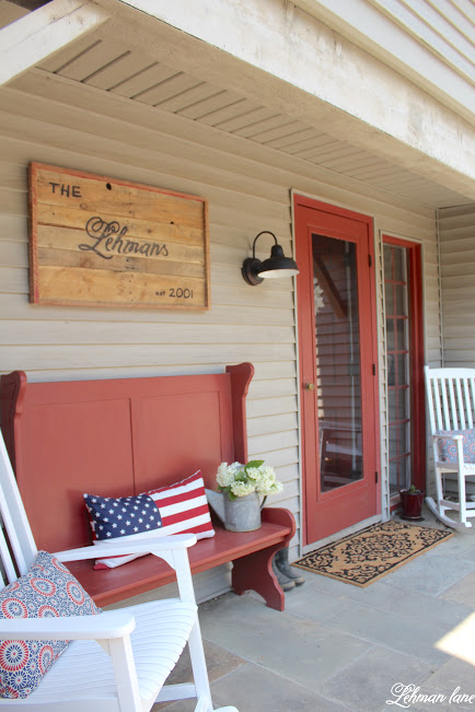 Farmhouse front porch - curb appeal reveal