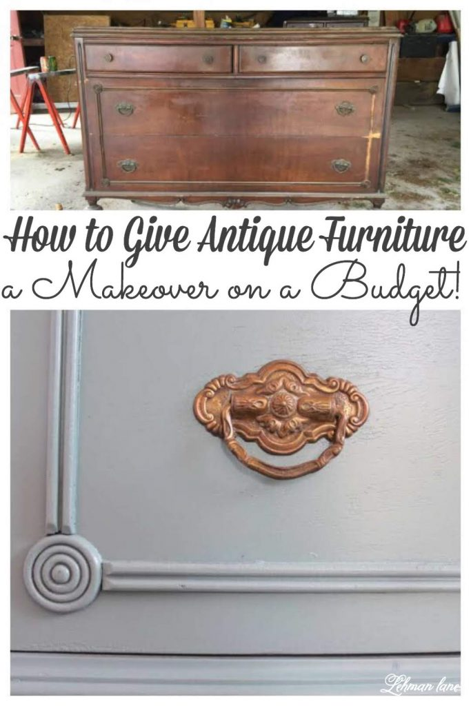 Sharing the antique farmhouse dresser redo we did in my daughter's room for less than $20 a dresser!  I was so pleased with how this simple dresser redo turned out I knew I wanted to share with my Farmhouse friends.  #antiquedresser #furnituremakeover #paintedfurniture #furnituremakeoverdiy https://lehmanlane.net