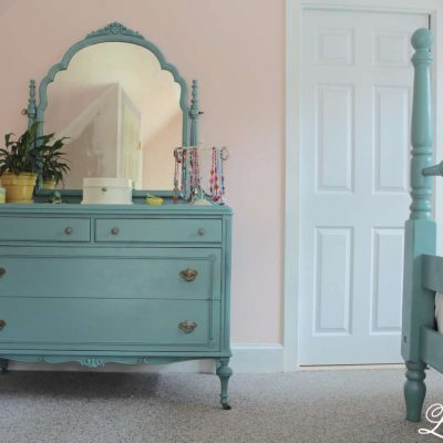 Dresser with mirror -antique farmhouse dresser redo