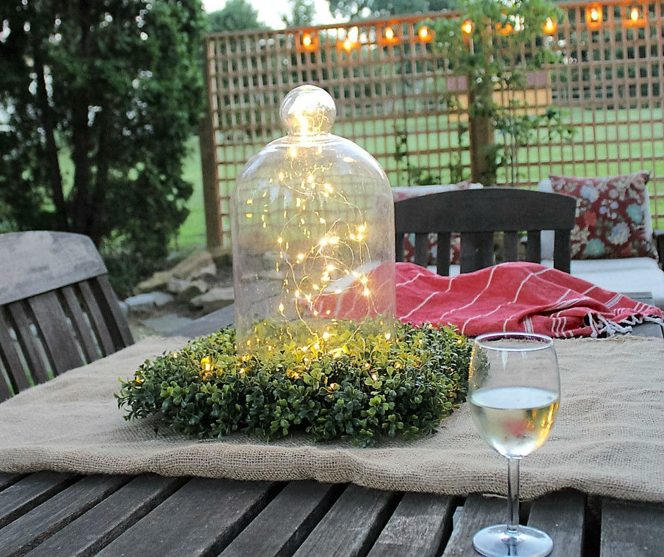 Learn how to light up your summer deck or patio for an evening garden party - NO ugly extension cords required!!! #BalsamHill #SummerHousewalk #LightUpTheNight2016