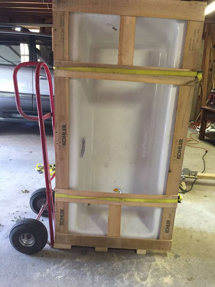 How To Move A Cast Iron Bathtub Tub With Hand Cart