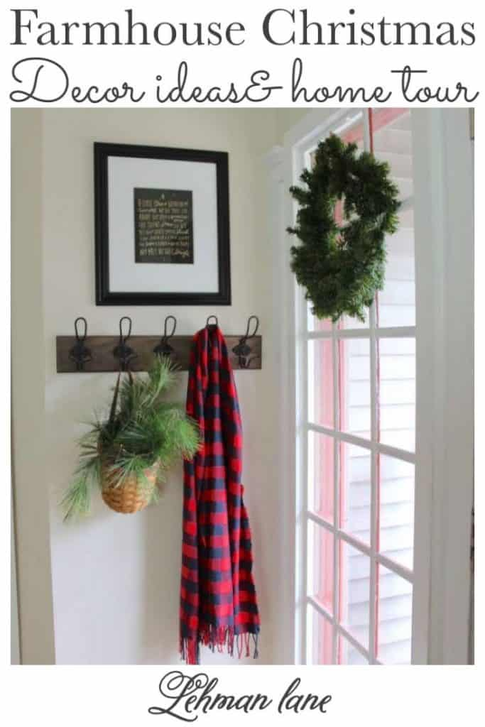 Sharing all of the details of my Farmhouse Christmas Home Tour with many beautiful farmhouse Christmas Decor ideas on a budget & pictures.