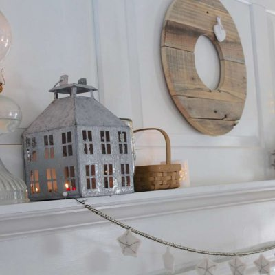 winter mantel decor for our farmhouse mantel #winter