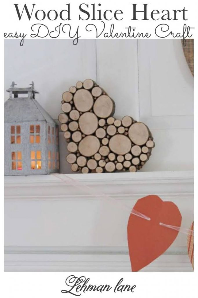 With Valentine's Day coming, I am sharing a great DIY wood heart craft idea, a simple & beautiful Wood Slice Heart I made in just 2 hours for free to decorate with! #diyprojects #heart #valentinesday #reclaimedwood https://lehmanlane.net
