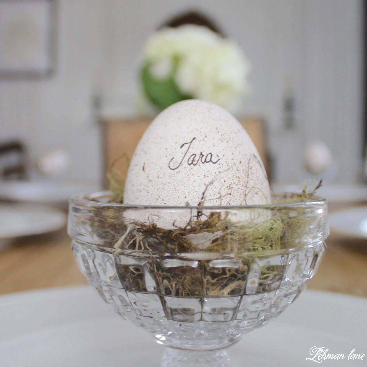 DIY - Speckled Eggs on Spring Table