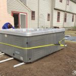Moving a Hot Tub with just 2 People on pvc pipes