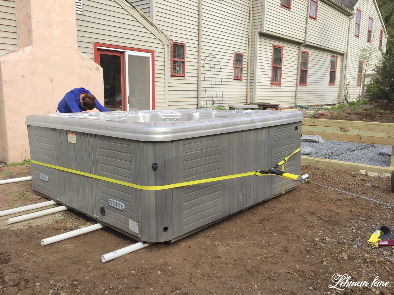 Moving A Hot Tub With Just 2 People Easy Step By Step Lehman Lane