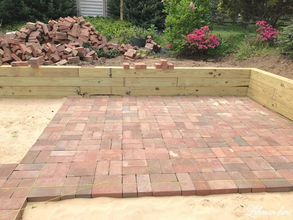 Attractive Diy Brick Patio Lehman Lane