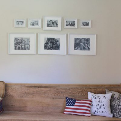 Family Photo Wall - aka the easiest gallery wall ever