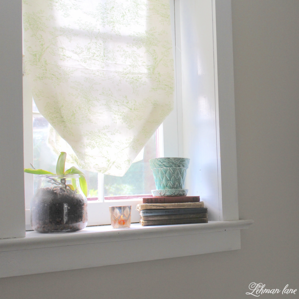 DIY Balloon Shade - bathroom window #ballonshade #diy #fabricshade http://lehmanlane.net