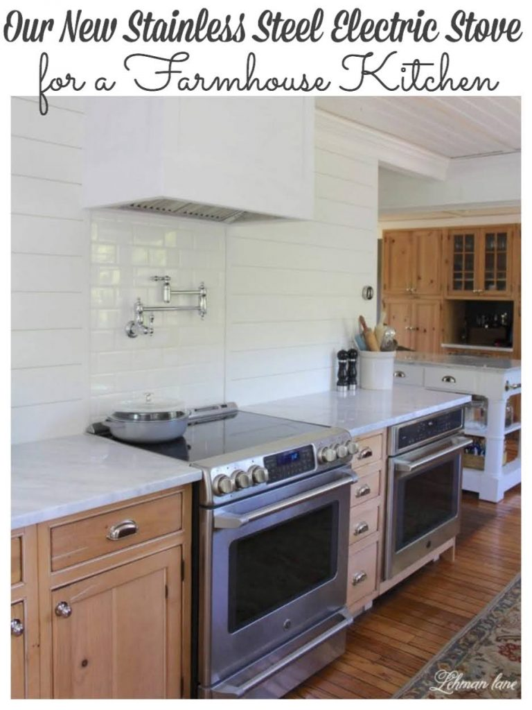 I have a working electric stove! Although, Jason & I initially disagreed on what kind of electric stove we should get we ordered a GE café series range in stainless steel #farmhousekitchen #kitchenstove https://lehmanlane.net