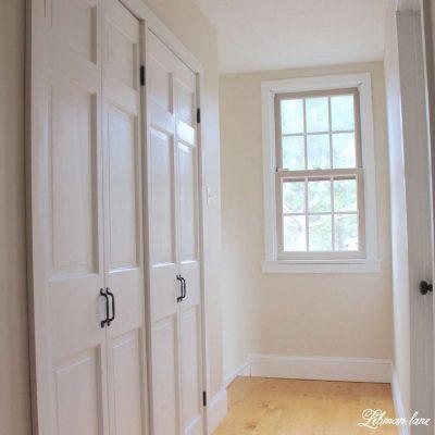 DIY - Closet Door Makeover - Bi-fold to Hinged #closet https://lehmanlane.net