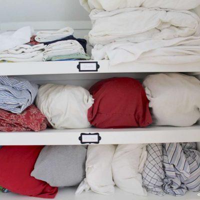 Organizing our linen closet