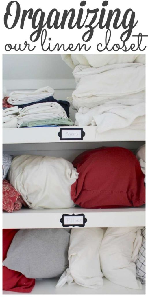 Organizing our Linen Closet - #closetorganization #closetmakeover https://lehmanlane.net