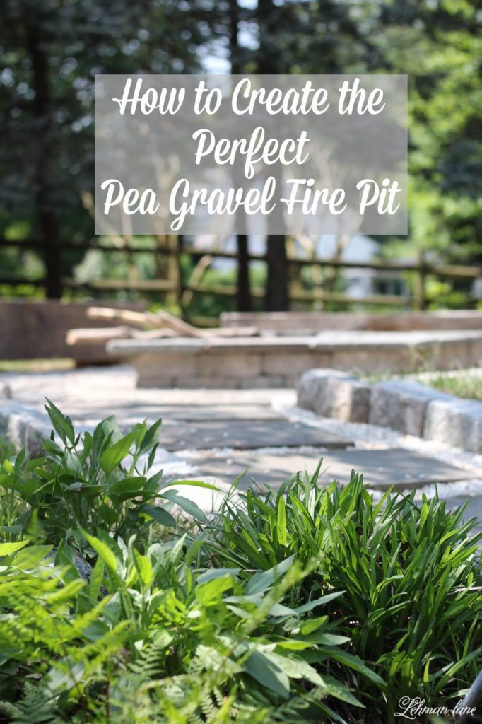 Just a few short years ago we created a stone fire pit. It is one of our family's favorite spots to hang out in our backyard, especially when we have large parties. We recently gave our fire pit an upgrade for less than $100 in just one day! Check out our gravel fire pit makeover! #firepit #diyfirepit #outdoordiy #gravelfirepit #firepitmakeover http://lehmanlane.net