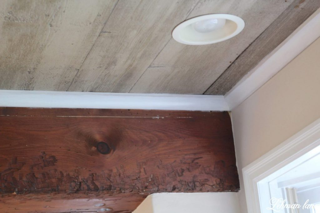 Faux Beam Wood Ceiling