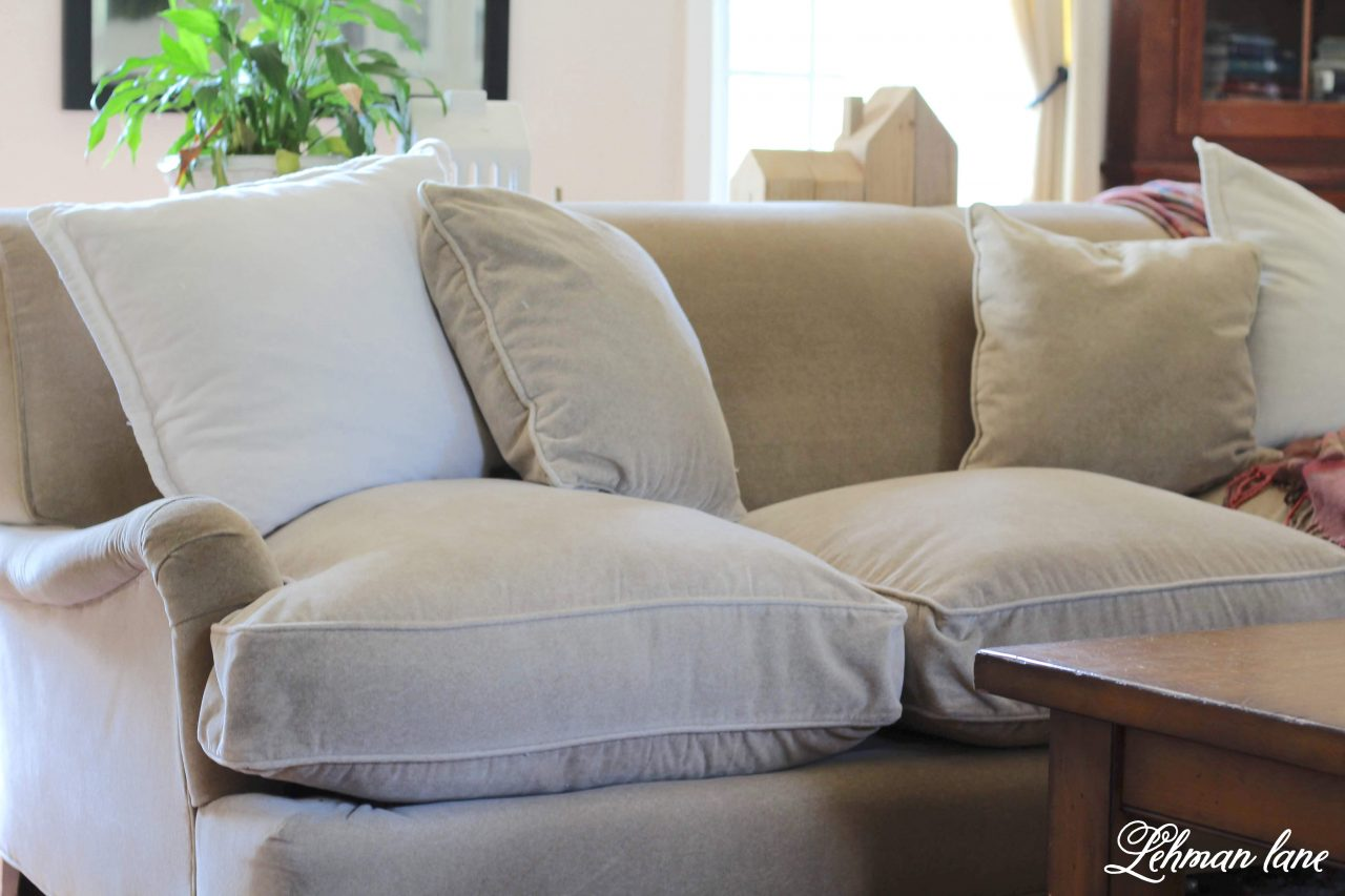 How To Re Stuff Your Old Sofa Cushions Lehman Lane