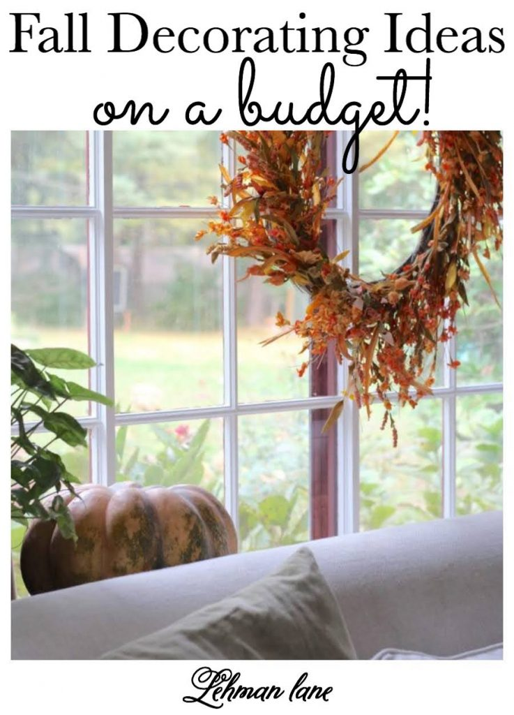 sharing a few glimpses of Autumn & Fall from around our farmhouse as well as my favorite fall decorating ideas on a budget for home, inside & outside. #fallfarmhouse #falldecoratingideas https://lehmanlane.net