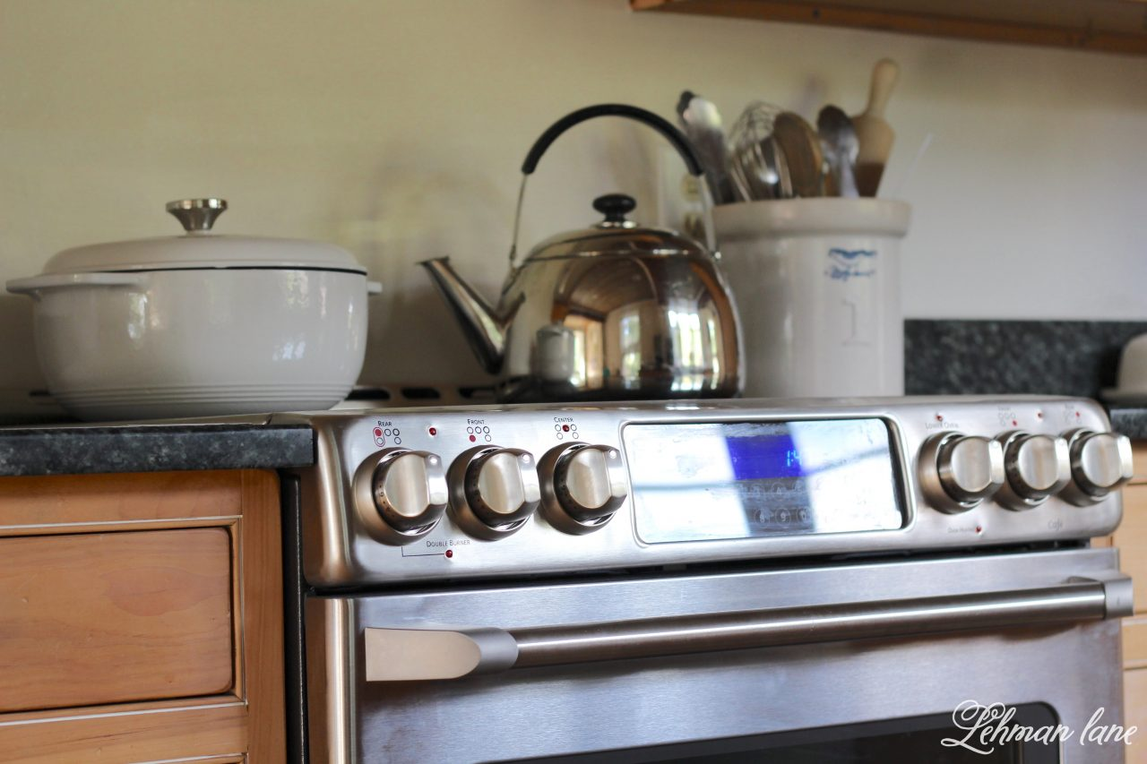 New Electric Stove & kitchen reno progress - GE cafe series in our farmhouse