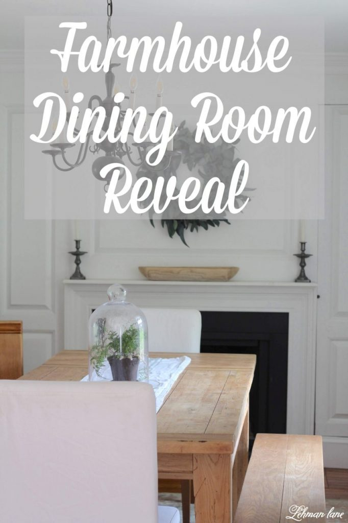 Our farmhouse dining room is now brighter, bigger & blends seamlessly with our newly remodeled kitchen! Sharing all the DIY & decorating details of our new space #farmhousestyle #farmhousedining #dining http://lehmanlane.net