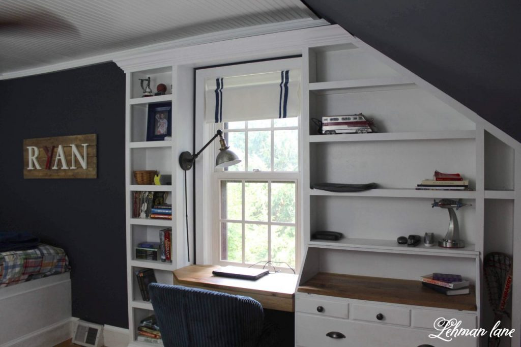 Secretary turned into built in dresser and desk #builtins #builtindresser #diyprojects https://lehmanlane.net