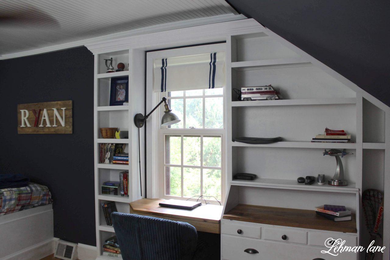 Secretary turned into built in dresser and desk #builtins #builtindresser #diyprojects https://lehmanlane.net