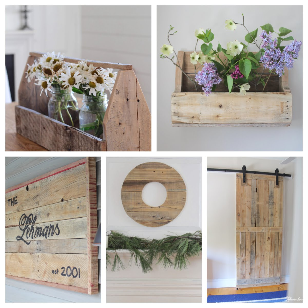 10 Pallet Furniture Projects to Build to bring Farmhouse Character to your home for FREE #palletprojects #farmhousestyle https://lehmanlane.net