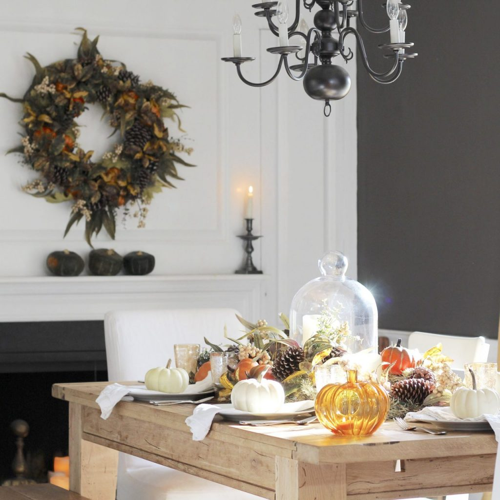 5 Simple Fall Table Ideas for Thanksgiving -With Thanksgiving right around the corner I am sharing 5 Fall table ideas from our farmhouse #thanksgiving #fallfarmhouse #falltable https://lehmanlane.net