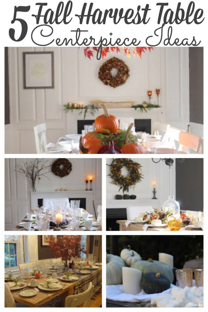 Sharing 5 of the Best Fall Table Ideas from our farmhouse to inspire your fall decorating & entertaining! These fall harvest table centerpiece ideas are perfect for a large Thanksgiving dinner or a small autumn dinner party outside with friends. All of my Fall Tablescapes were simple to put together using decorations you probably have #falltable #falltabledecorideas #fallcenterpiece https://lehmanlane.net