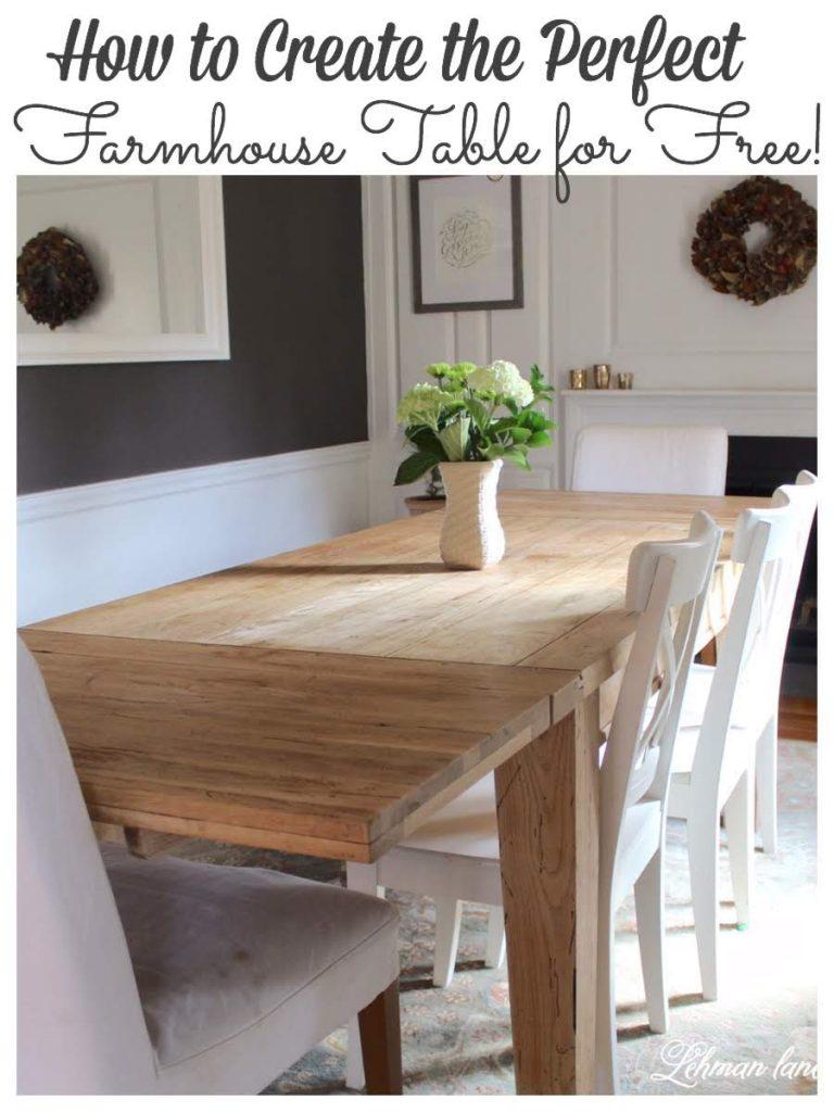 How To Refinish A Table Diy Farmhouse Table For Free Lehman Lane