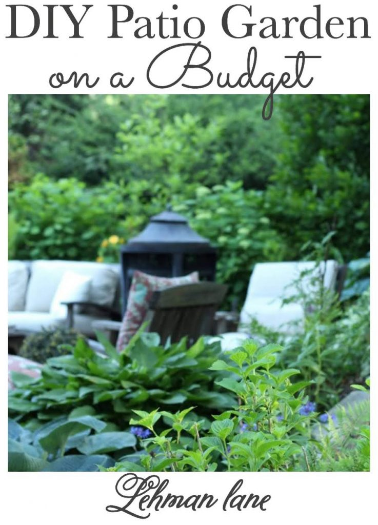 Sharing all the details about how to make a sunken patio garden on a budget for less than $150 with pictures. #patiogarden #gardeningforbeginners #gardeningonabudget https://lehmanlane.net